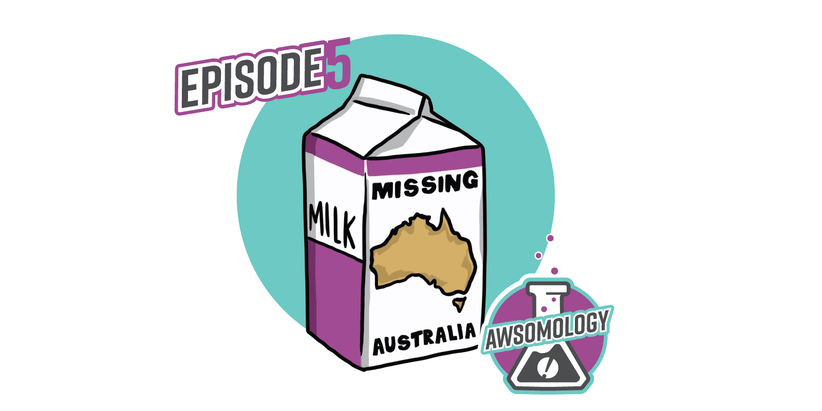 Illustration of Australia in a Missing Ad on a Milk Carton