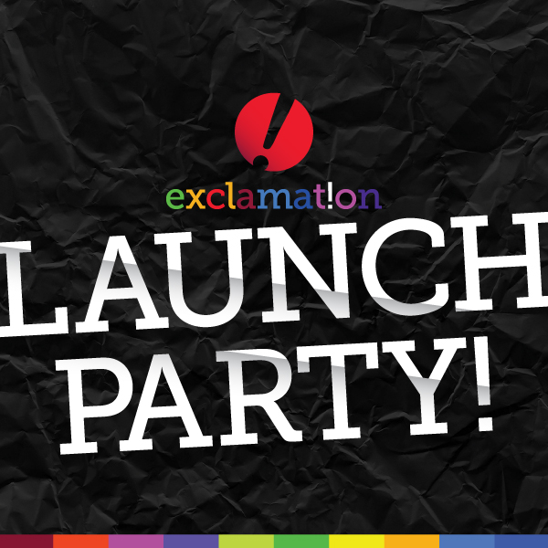 Exclamation Launch Party Graphic