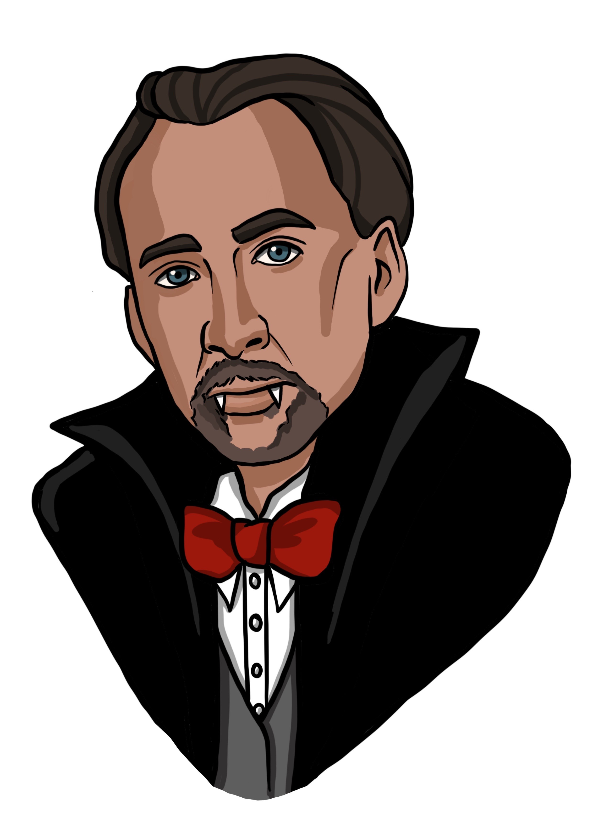 Illustration of Nicholas Cage as a Vampire