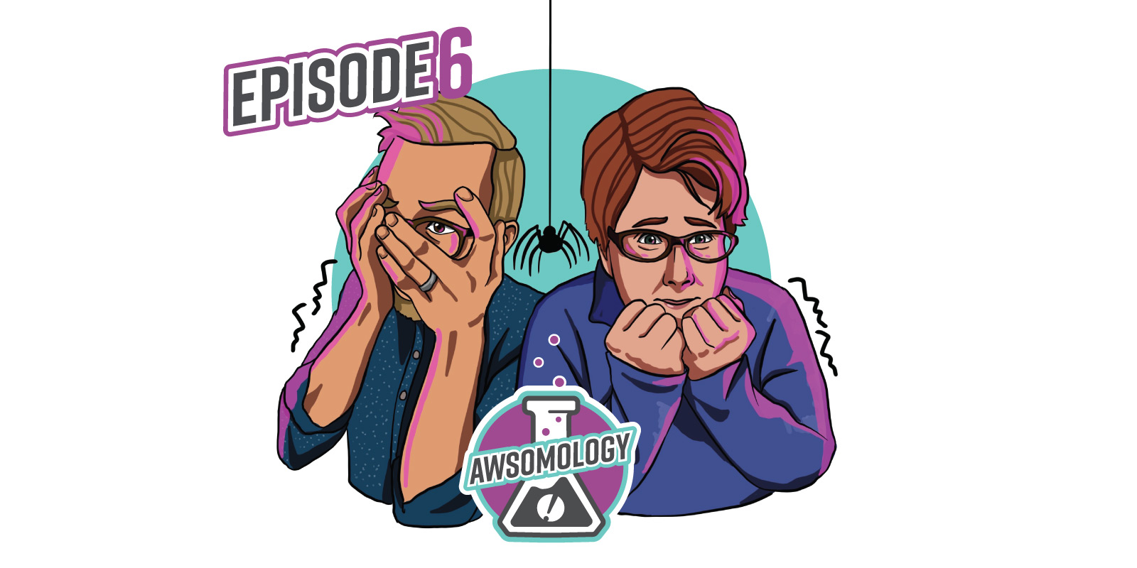 Illustration of Vince and Sue looking scared