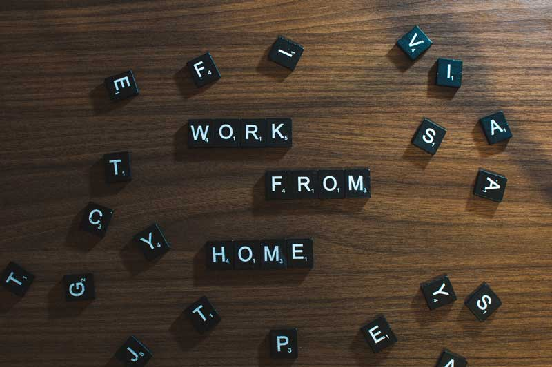 Scrabble tile work from home image