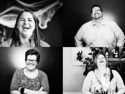 Image of laughing people