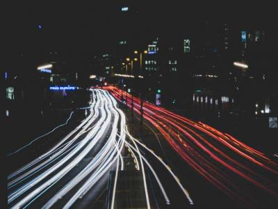long exposure image on roads